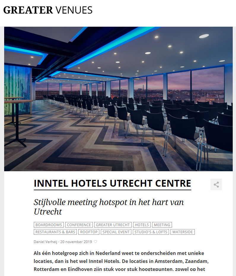 Greater Venues Meetings & vergaderen in Utrecht