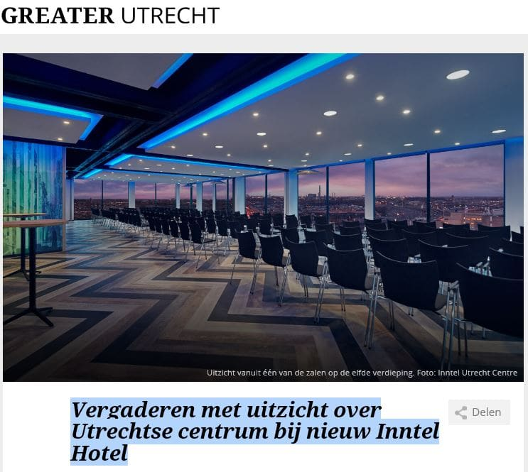 Inntel Hotels Utrecht Centre - Vergaderen in Utrecht Greater Venues