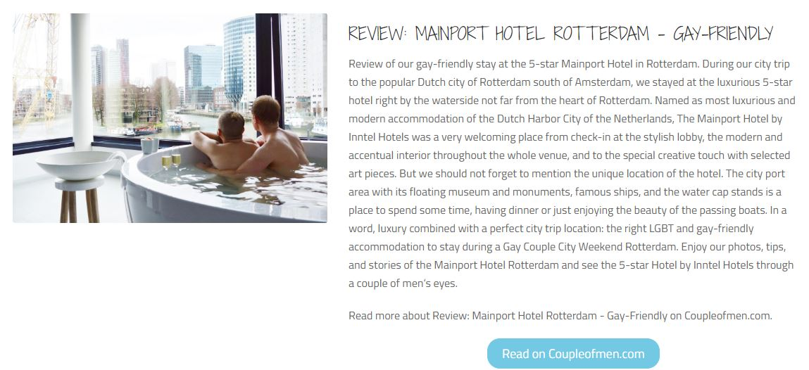 Tropital - Mainport by Inntel Hotels luxurious 5-star hotel in Rotterdam